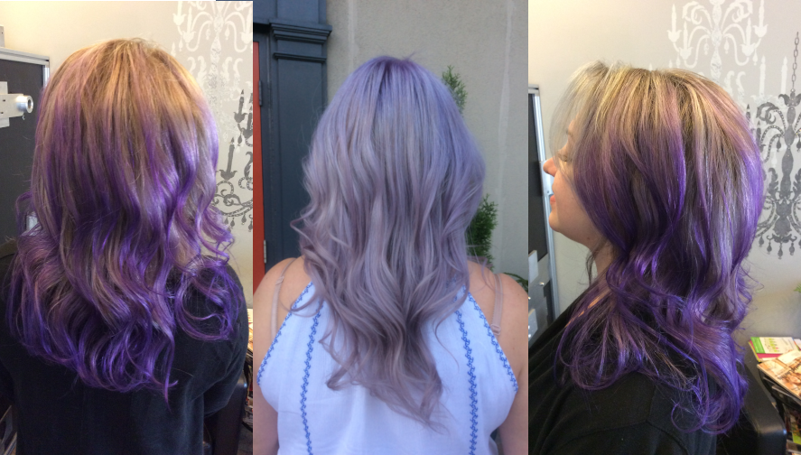 puprple balayge ideas elena figaro salon