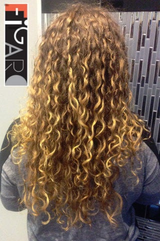 Spiral Perm done by Best Hair Salon In Toronto