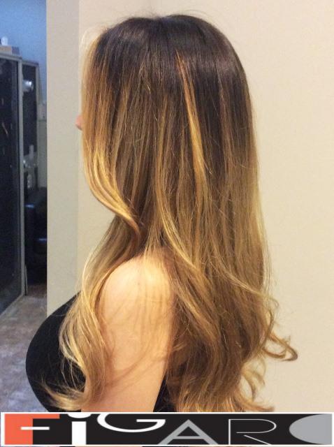 Golden Blonde Balayage by Figaro - BEST TORONTO's HAIR SALON