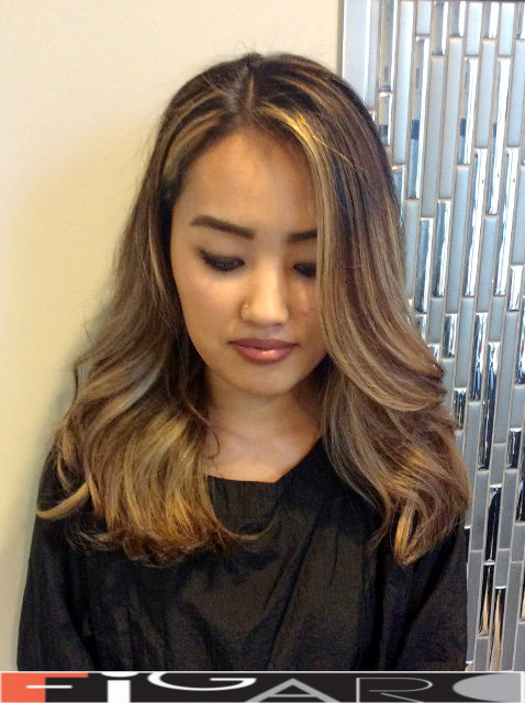 Soft Blonde Balayage asian Hair by Figaro - BEST TORONTO's HAIR SALON