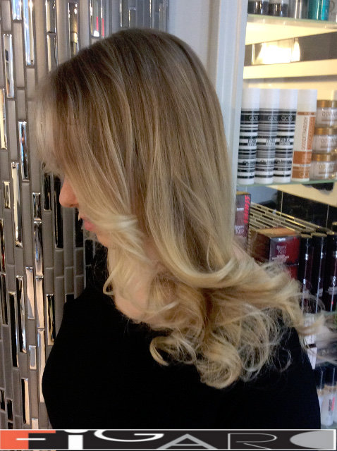 Platinum Blond Balayage Highlights by BEST TORONTO HAIR SALON
