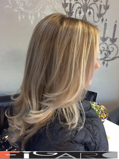 Blonde hairs Balayage Highlights by Figaro - BEST TORONTO's HAIR SALON