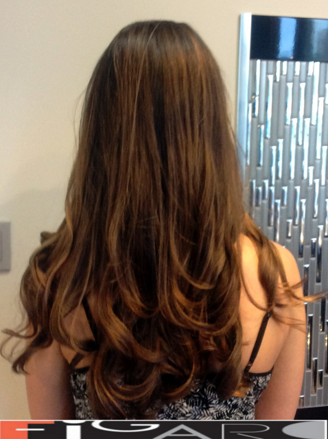 caramel balayage highlights bby Figaro - BEST TORONTO's HAIR SALON