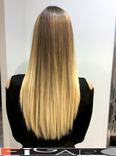 Platinum Balayage Highlights by toronto best hair salon