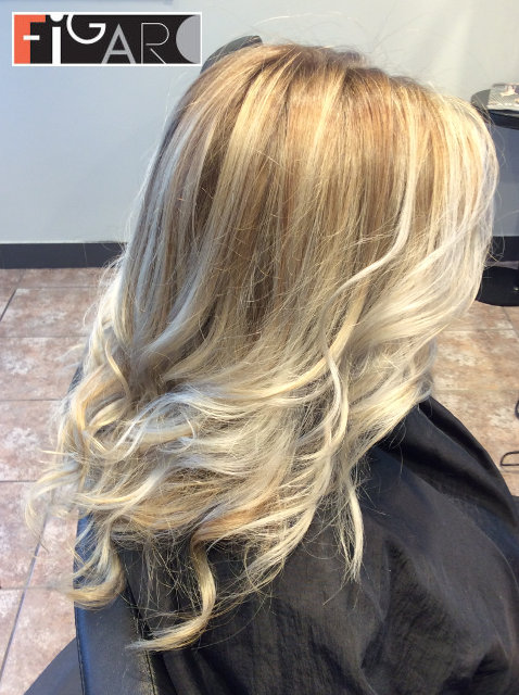 Acy Blonde Balayage , Hair done by Figaro - BEST TORONTO's HAIR SALON