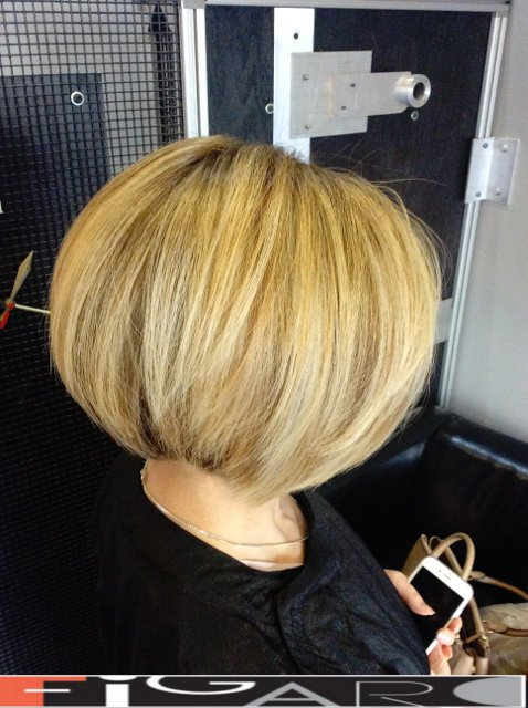 Graduated Bob Cut Highlights Hair by Figaro - BEST TORONTO's HAIR SALON