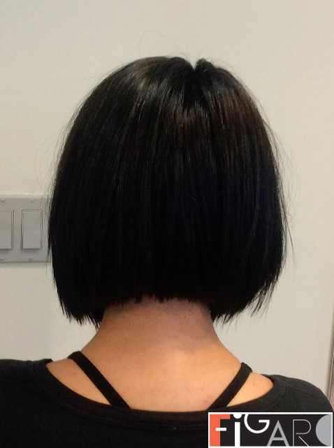 Graduated Bob Cut Black Hair by figaro hair & beauty salon . best in toronto.gta