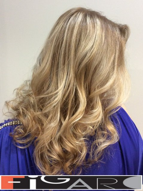 Blonde Highlights by Award winning  Figaro Salon-BEST in Toronto. We use Olaplex L'oreal Goldwell