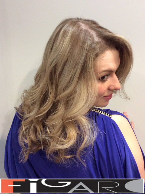 Blond Highlights by Award winning  Figaro Salon-BEST in Toronto.