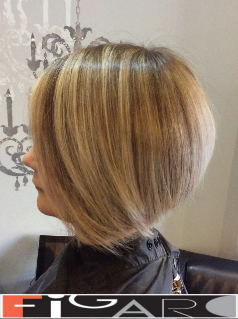 Highlights Bob Cut Haircut by Figaro - BEST TORONTO's HAIR SALON