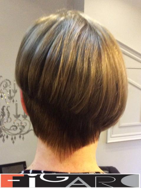 Asymmetrical Short Hair Cut for Women by Figaro - BEST TORONTO's HAIR SALON