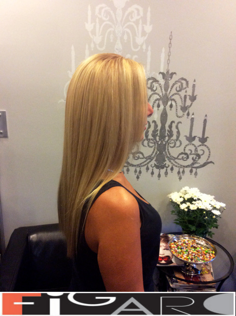Platinum highlights on Blonde Hair by Figaro - BEST TORONTO's HAIR SALON