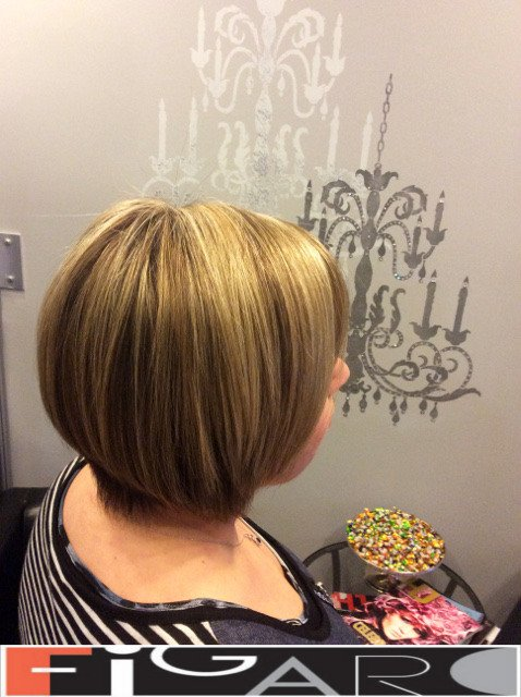 Platinum highlights Dirty Blonde Lowlights by Figaro - BEST TORONTO's HAIR SALON