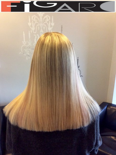 Platinum Blonde Ombre Highlights by Figaro - BEST TORONTO's HAIR SALON