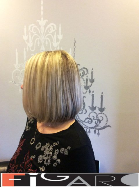 Blonde Highlights Hair, Lob Cut by Figaro - BEST TORONTO's HAIR SALON