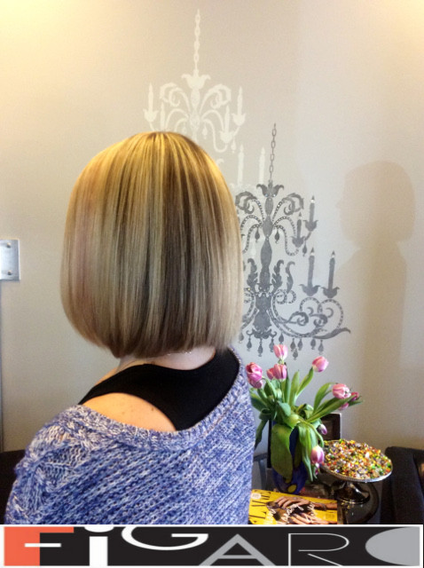 Blonde and Dark Streaks by Figaro - BEST TORONTO's HAIR SALON