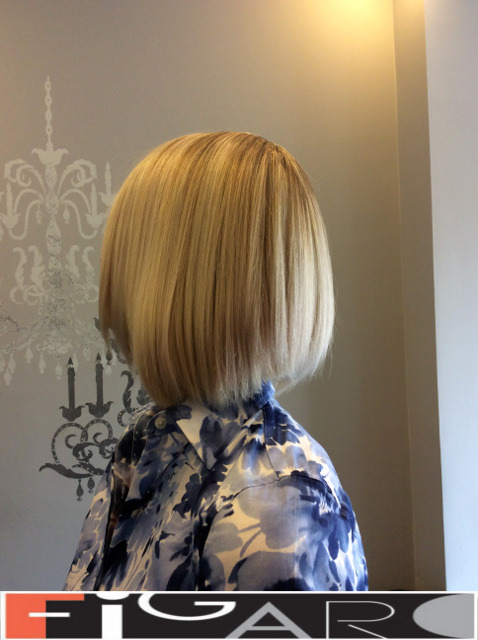 Bob Cut HighLights done by Figaro Hair Salon Toronto