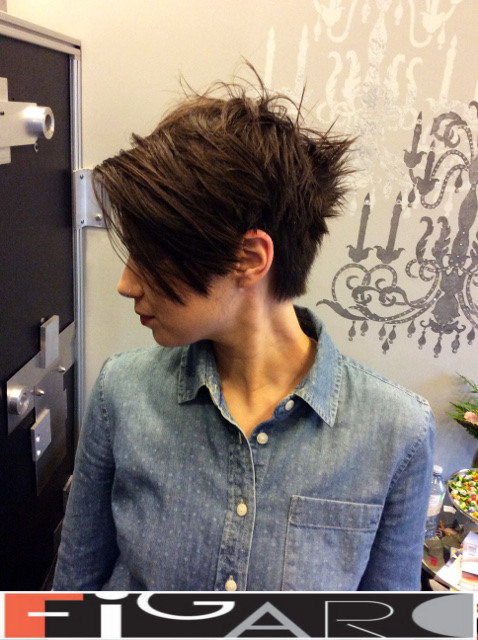 Asymmetrical Pixie CUT Figaro Hair Salon Toronto