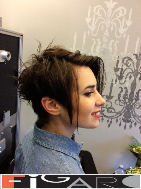 Asymmetrical Pixie CUT by figaro salon