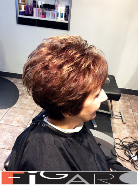 Short Layered Hair Cut Figaro Hair Salon Toronto