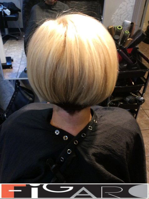 Blonde Hair Bob Cut Figaro Hair Salon Toronto
