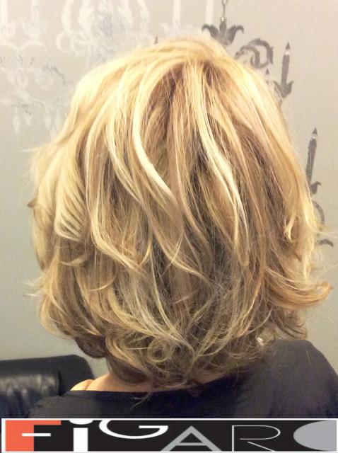 Soft Waves Lob Hair Cut Balayage Figaro Hair Salon Toronto