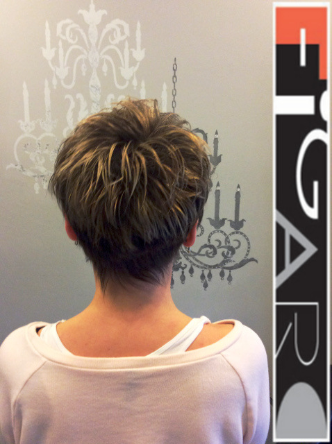 Short Hair Style HighLights Figaro Hair Salon Toronto
