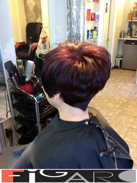 Short Hair Style done Figaro Hair Salon Toronto