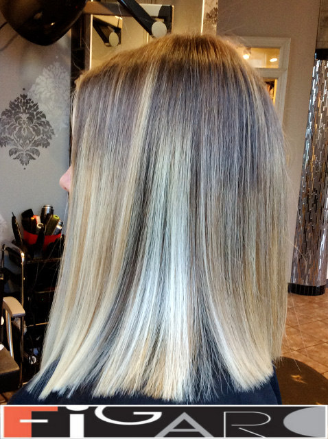 Lob Cut Balayage Hair by figaro salon Figaro Hair Salon Toronto
