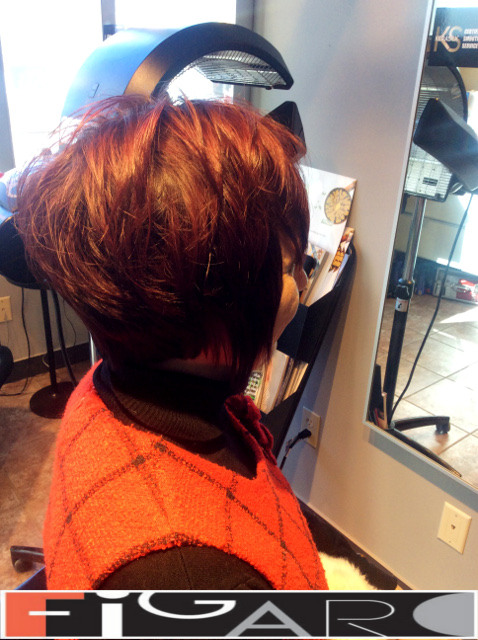 Layered Messy Bob Cut Figaro Hair Salon Toronto