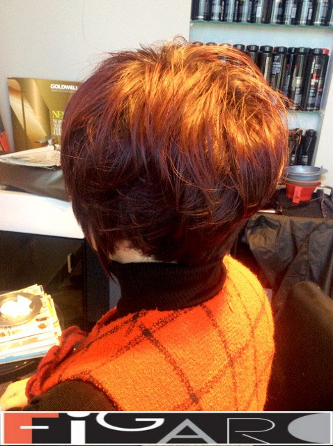 Layered Messy Bob Cut by Figaro Hair Salon Toronto