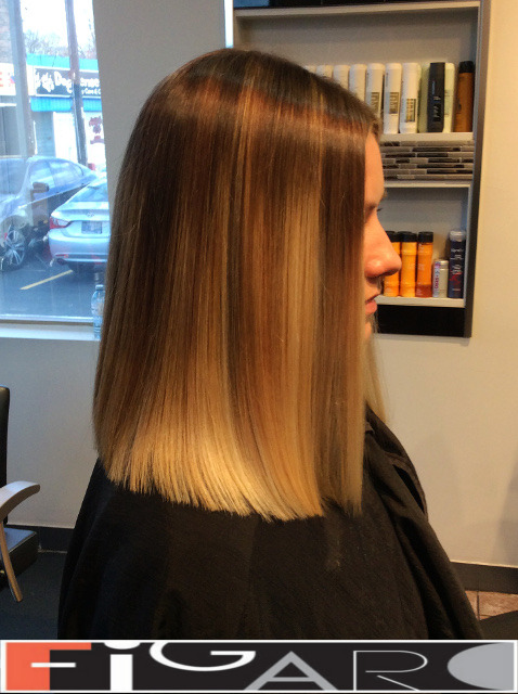 Lob Cut Sombre Hair Figaro Hair Salon Toronto