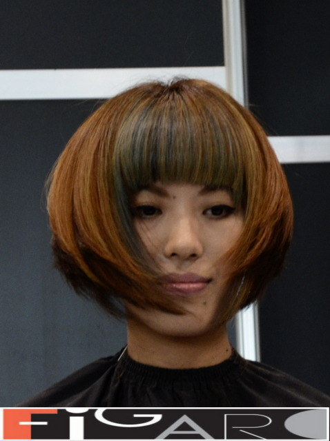 Layered Bob Cut with Bangs Asian Hair by Figaro Art Director