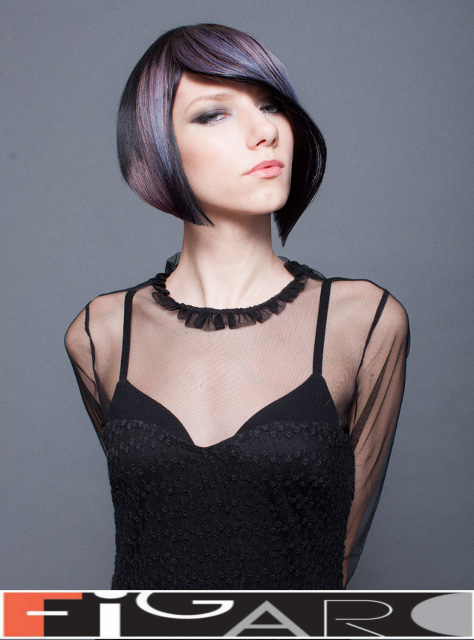 Bob hair cut by Elena's from Figaro Hair Salon Toronto