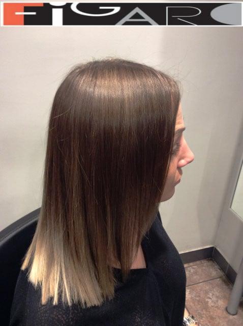 Chunky Lob haircut by Figaro Hair Salon Toronto
