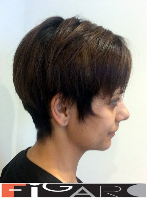 Short pixie hair cut for Brunette by Figaro Salon