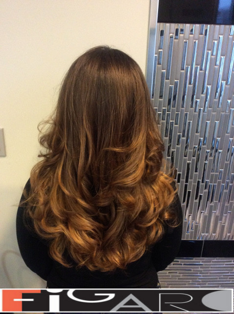 balayage Caramel blonde Brown Hair by Figaro - BEST TORONTO's HAIR SALON