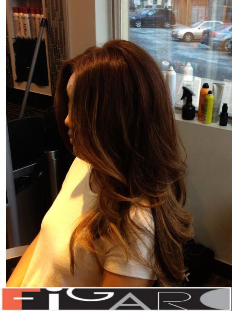 balayage Brown Hair by Figaro - BEST TORONTO's HAIR SALON