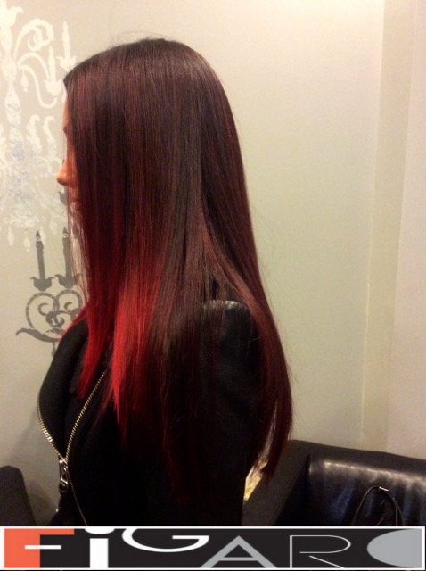 balayage Ombre Red Hair DONE by Figaro - BEST TORONTO's HAIR SALON