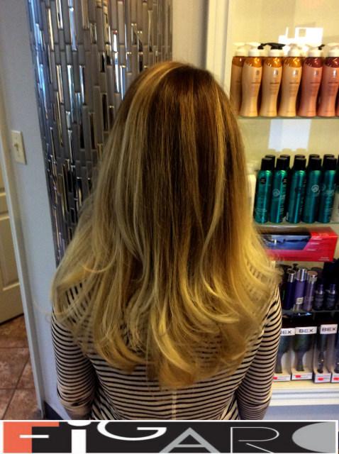 Light blonde Dark Roots Hair balayage by Figaro - BEST TORONTO's HAIR SALON