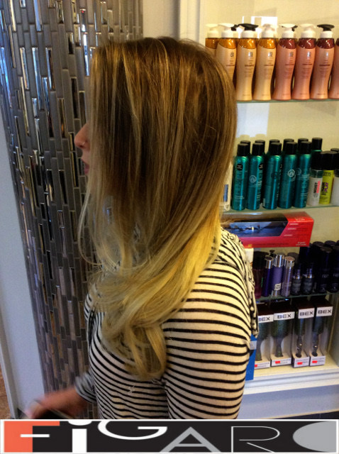 Bright blonde balayage by Figaro - BEST TORONTO's HAIR SALON