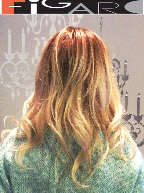 Strawberry blonde balayage Ombre by Figaro - BEST TORONTO's HAIR SALON