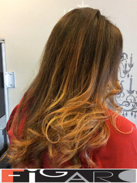 Honey Brown Ombre balayage by Figaro - BEST TORONTO's HAIR SALON