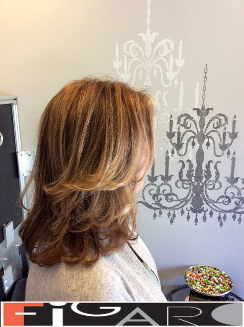 Strawberry blonde balayage by Figaro - BEST TORONTO's HAIR SALON