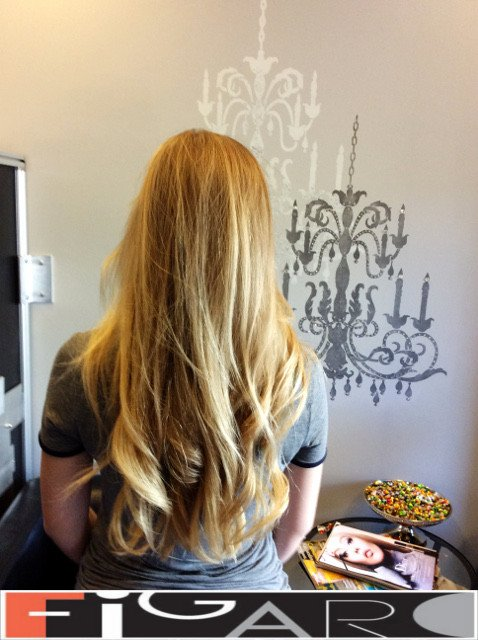 Light blonde balayage by Figaro - BEST TORONTO's HAIR SALON