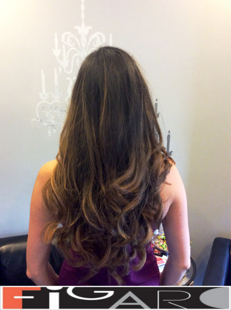 Dark Brown Hair balayage by Figaro - BEST TORONTO's HAIR SALON