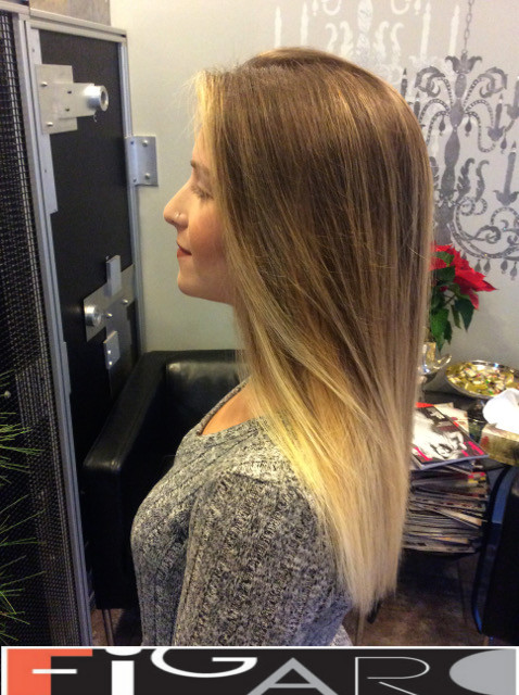 Dirty blonde Soft balayage hair by Figaro - BEST TORONTO's HAIR SALON
