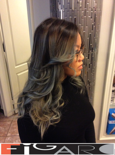 balayage hair Silver, Silver Grey by Figaro - BEST TORONTO's HAIR SALON