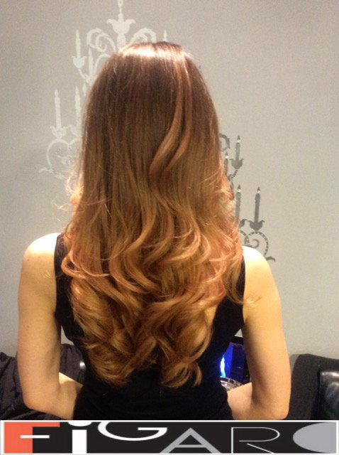 balayage hair Caramel blonde by Figaro - BEST TORONTO's HAIR SALON