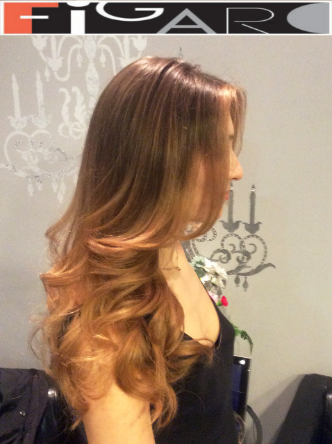 balayage hair Caramel blonde, Soft Waves Style by Figaro - BEST TORONTO's HAIR SALON